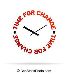tid, för, ändring, klocka