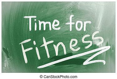 tid, för, fitness, begrepp