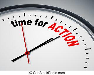 tid, för, handling