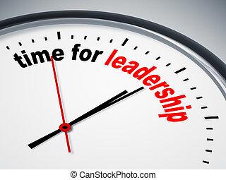 tid, för, ledarskap