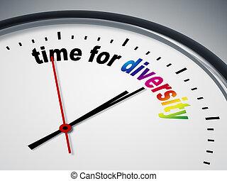 tid, för, mångfald