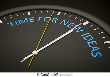 tid, för, nya idéer