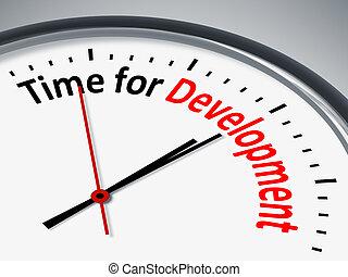 tid, för, utveckling