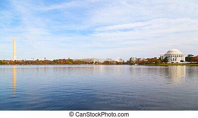 tidal basin, en, washington, dc.