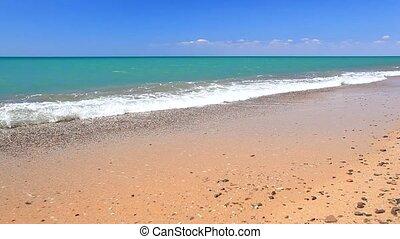 tidal borelight breeze on azure coast - surf on a background...