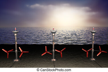 Tidal energy illustration