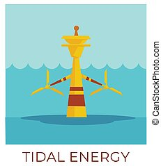 Tidal energy, power plant accumulating natural resources ...