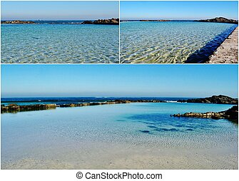 Landscape collage with tidal pool in Silverstroom Westcoast South Africa