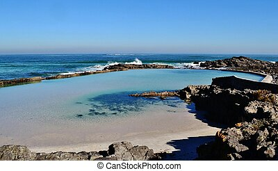Landscape with tidal pool in Silverstroom Westcoast South Africa
