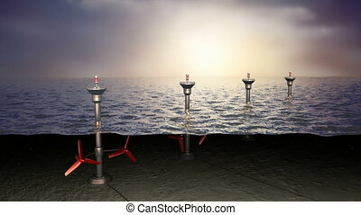 Tidal sea energy, concept