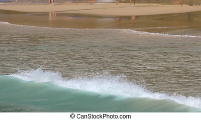 Tidal waves on Phuket - High tidal waves on the beach of Nai...