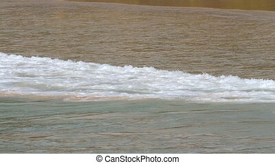Tidal waves on Phuket - Tidal waves in the ocean near Nai...