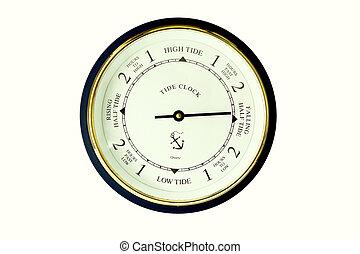 tide clock - a modern tide clock on a white background