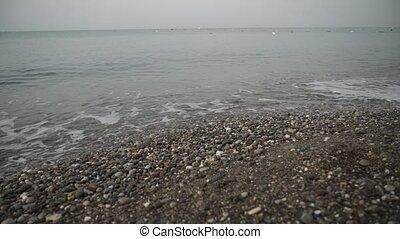 tide of waves on shore watch 4k