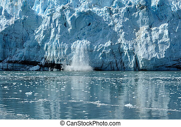 tidewater, margerie, alaska, calving, ghiacciaio