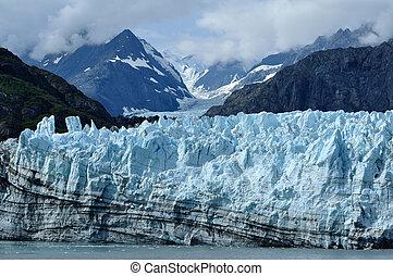 tidewater, margerie, alaska, glaciär