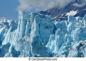 tidewater, margerie, gletsjer, alaska