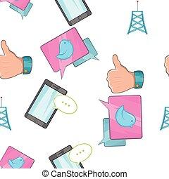 Tidings pattern, cartoon style