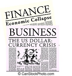 tidning, fictitious, ekonomisk
