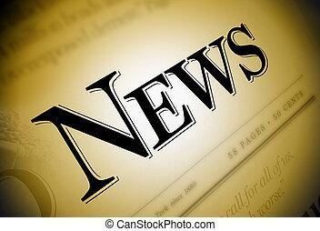 tidning, nyheterna, text