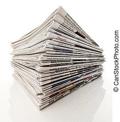 tidningar, stack