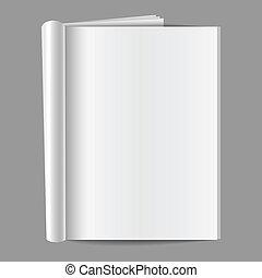 tidskrift, blank, fold