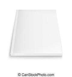 tidskrift, shadows., blød, skabelon, blank