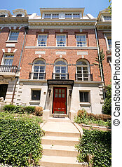 Tidy Adams Colonial Style Row House Washington DC - Colonial...