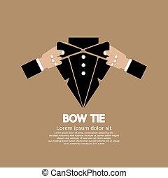 tie., 弓