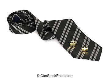 Tie and cuff button