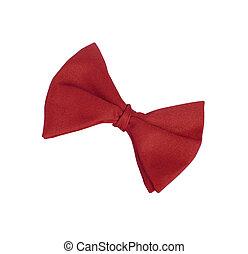 tie-bow, wit rood, vrijstaand
