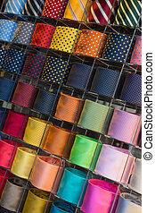 Tie collection - Colorful tie collection in the men's shop
