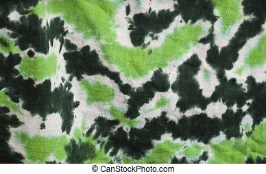 tie-died, verde, tecido