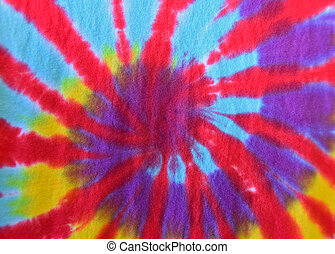 tie-dye abstract on fabric - Close up of a tie-dye abstract...