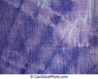 Tie-Dye Blur Detail - purple tie-dyed cotton diagonal...