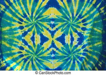 Tie Dye Pattern - Green, Yellow and Blue tie dye pattern on...