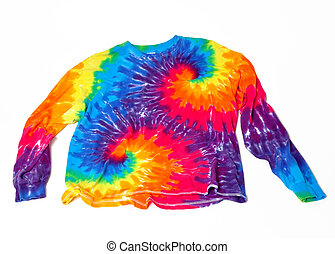 Tie dye shirt on a white background