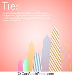 Tie Jobs Employment Graph eps 10 illustration