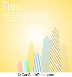 Tie Jobs Employment Graph illustration eps 10