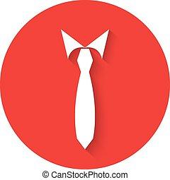 Tie men vector illustration in flat design.
