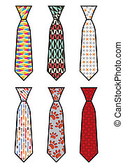 Tie set - Vector illustration of the Tie set