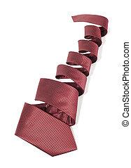 Tie - Silk necktie on white