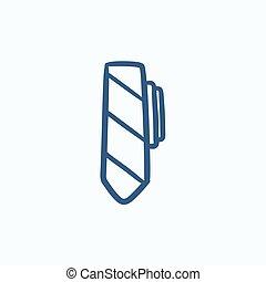 Tie sketch icon.