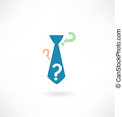 tie with a question mark icon