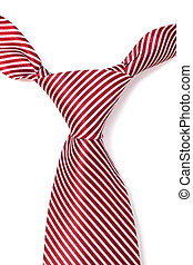 tie with red stripes on a white background