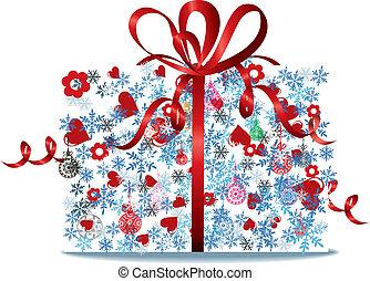 Tied bow ribbon gift box style