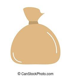 tied cloth bag cartoon vector illustration cartoon flat icon