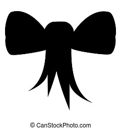Tied ribbon silhouette