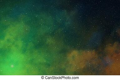 tief, dunkel, raum, nebulae