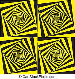 tief, hypnotisch, spiralen
